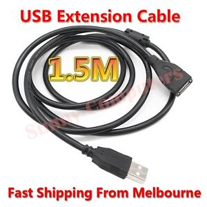 2X-USB-Extension-Cable-Type-A-Male-to-Female-1-5M-Lead-Cord-With-Magnetic-Ring