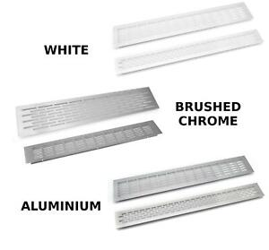 Details about Aluminium, White, Brushed Chrome Vent Grill Kitchen Plinth  Worktop Heat