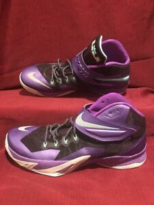 new product b9a54 746c9 Image is loading Nike-Zoom-Lebron-Soldier-8-VIII-Purple-Men-