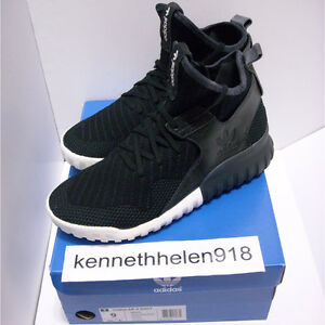 uk availability f243c a8777 Image is loading NEW-ADIDAS-TUBULAR-X-KNIT-SHOES-CORE-BLACK-