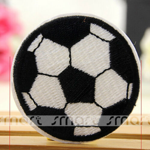 1//10PCS Cartoon Football Sew On Patches Embroidered Clothes Applique Trim Craft