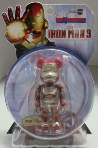 Iron Man 3 Mk Mark 42 100/% Bearbrick FIGURINE MEDICOM Neuf Scellé