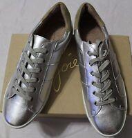 $210 Joie Dakota Silver Leather Lace Up Sneaker Eur 39.5/ Us 9.5