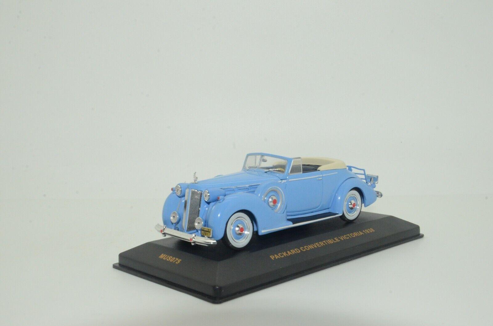 rara    Packard Converdeible Museo Victoria 1938 IXO MUS075 1 43