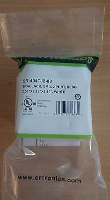 REDUCED 2 Port Fog White OR-40400054 Ortronics TracJack SMB Surface Mount Box