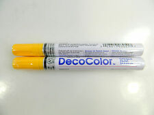 Two (2) Marvy Uchida Broad Line Deco Color Opaque Paint Marker, Different Colors