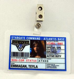 Atlantis Command Ebay Badge-teyla Stargate Emmagan Id