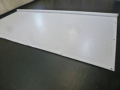 LKW Plane Abdeckplane PVC Folie 3,20m breite .500g//m² weiß A-Ware werbebanner