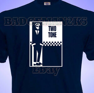 TWO-2-TONE-Soul-SKA-Mod-SCOOTER-4-Madness-amp-Specials-Music-Mens-T-Shirt-Fans