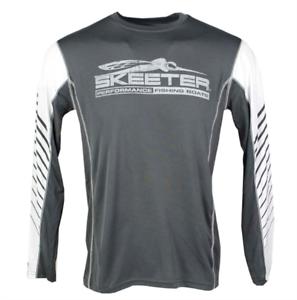 Skeeter Grey Performance Wicking Long Sleeve Large