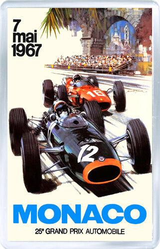 1967 Monaco Grand Prix Motor Racing Fridge Magnet Magnet Kühlschrank