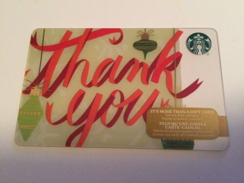 "New No Value Canada Series Starbucks /""THANK YOU 2016/"" Holiday Gift Card"