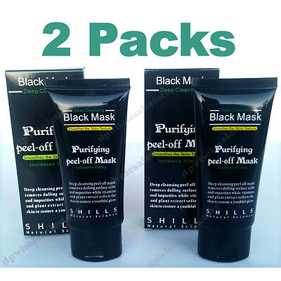2x Packs Purifying Black Mask Peel-off Facial Blackhead Remover Cleansing