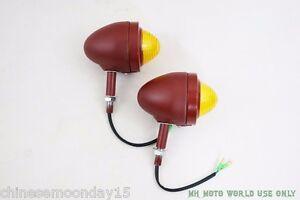 CJ750 - bullet turning signals lights 2 pcs RAW 12V bulb