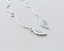Simple Doux Argent Sterling 925 Chaîne Feuille Pull Through Dangle Enfileur Boucle d/'oreille