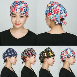 Doctor Nurse Cap Adjustable Scrub Cap Medical Surgical Surgery Salon Kitchen Hat
