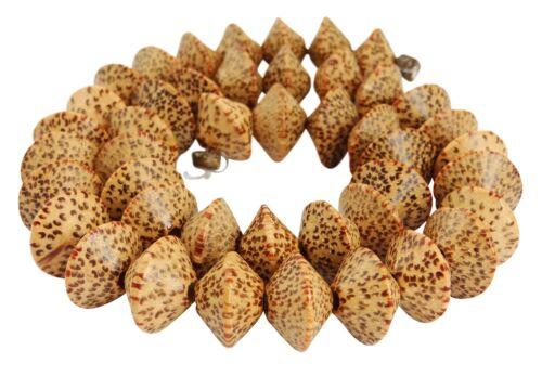 Noix de Coco Palmholz ronds ~ 14x10 mm Perles Brin Perle Palmholz h.ko-18