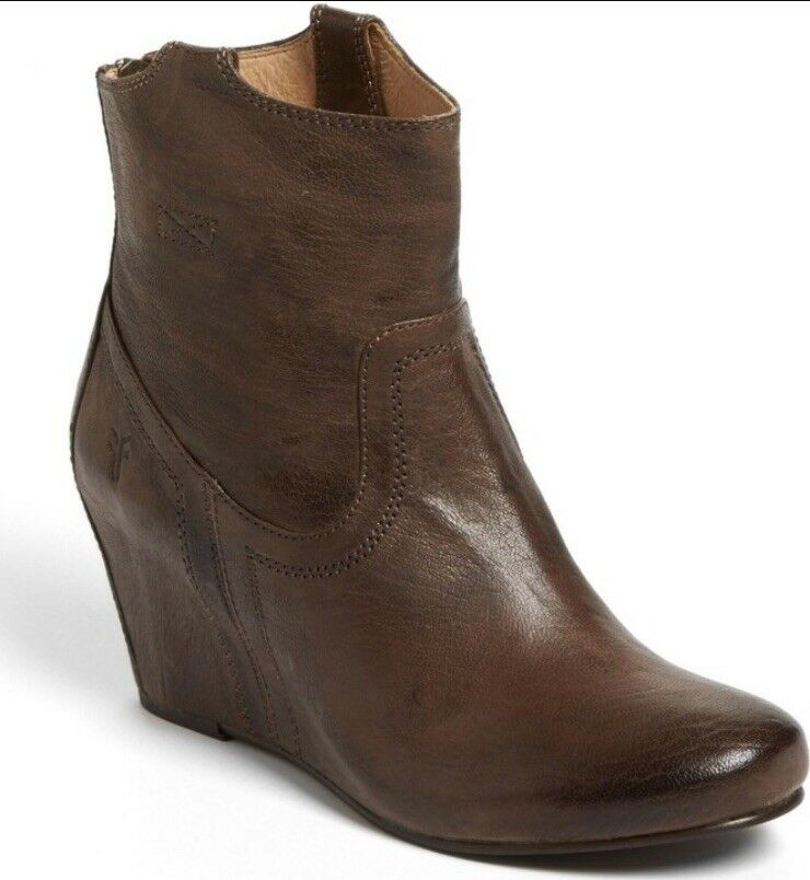 FRYE carson wedge bootie inBrown (called taupe) size 8.5.  Excellent condition.