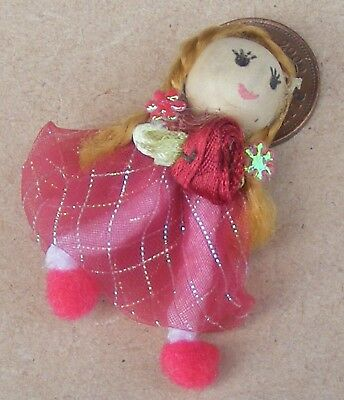 1:12 SCALA Rosa Bambola di pezza con una testa in legno accessorio casa di bambole tumdee PT