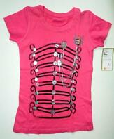 Levi's Girls Novelty Military Marching Braid Chain Band Pink Tee M Med 8/10