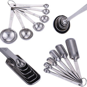 Kitchen Tool Set Of 6pcs Sj Of 6pcs Stainless Steel Round Square Baking Cooking Measuring