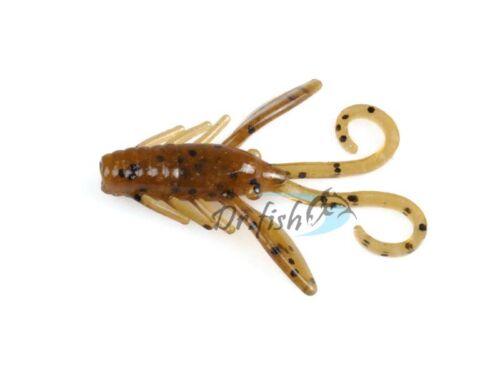 1.5″ Craw Fishing Soft Plastic Lure Crappie Perch Jig Soft Bait Bass Perch 12Pcs