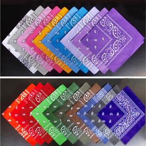 1X-Paisley-Carre-Motif-Bandana-Foulard-Polyester-Cou-Foulard-Partie-Chapeaux