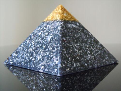 Orgon 23k Gold Spitzen Lila Astral Reise Pyramide MaIachite Chiostolite Kreuz
