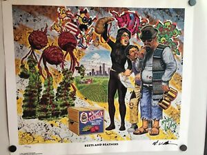 ROBERT-WILLIAMS-034-BEETS-AND-BEATNIKS-034-1995-SIGNED-amp-NUMBERED-PRINT