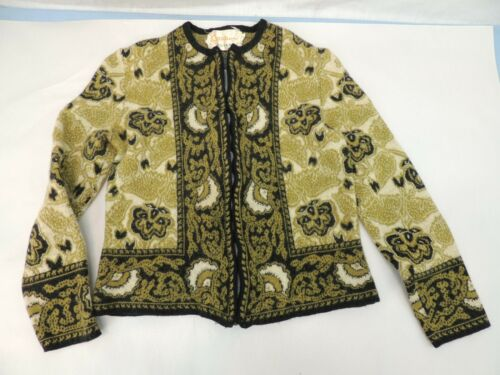 VINTAGE WOMEN'S SWEATER STRETCHY ZIP CATALINA JACQ