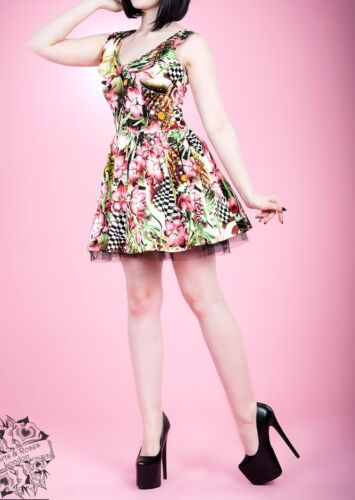 Pink Lilly Pinup Rockabilly Retro Vintage Flowers Mini Dress by Hearts and Roses