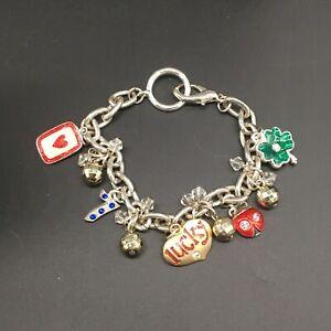 AJMC-Vintage-Lucky-Bracelet-Ace-Of-Hearts-Seven-4-Leaf-Clover-Ladybug