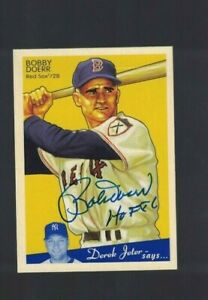 Bobby Doerr Boston Red Sox Signed 2008 UD Goudey Baseball Card W/Our COA