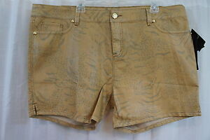 Baby sultry Sz Pantaloncini Gold Stretch Casual Phat 22 Nomad Printed Multi Tqwd7