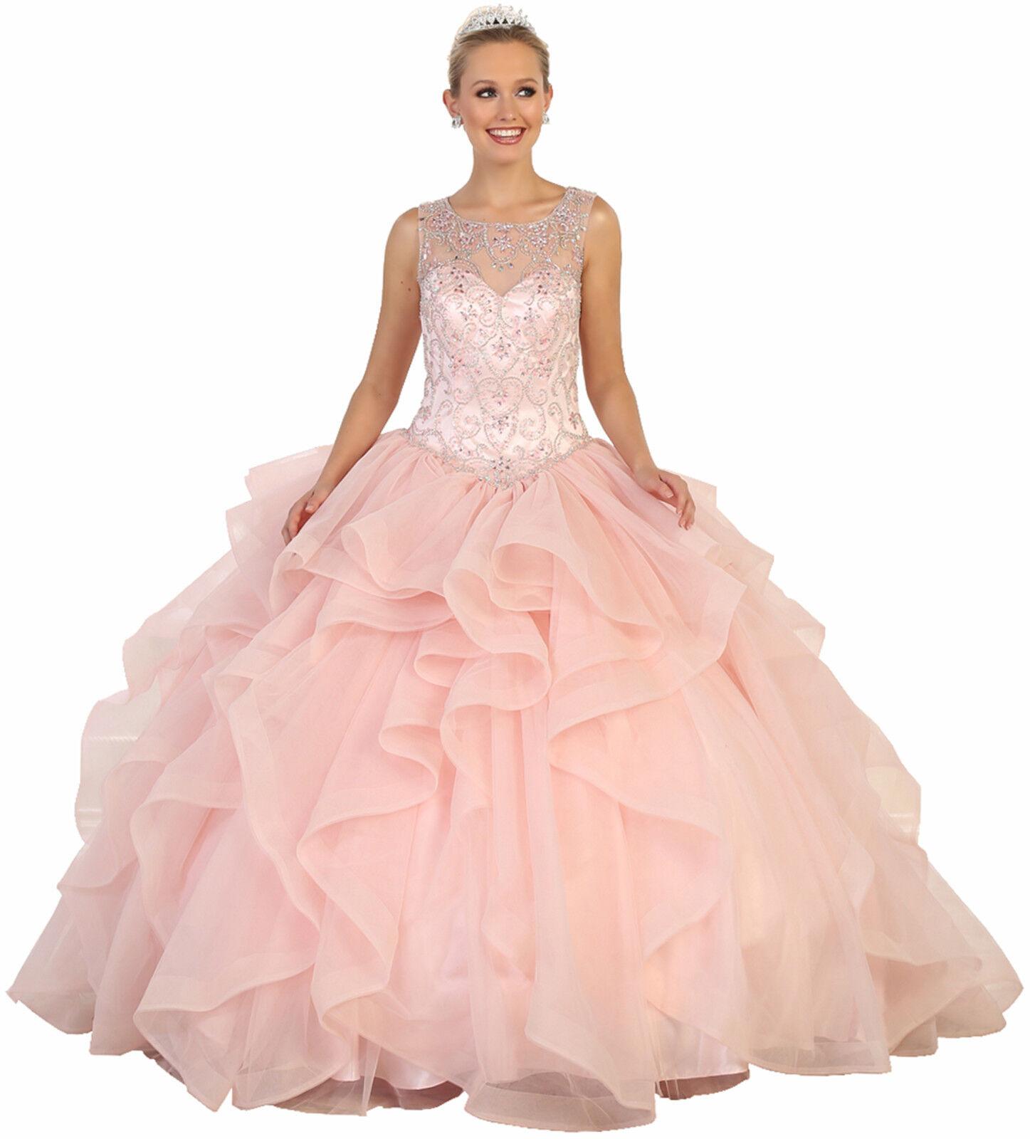 Abiball Sweet 16 Kleid Quinceanera Ballkleid Maskerade Cinderella Formelle
