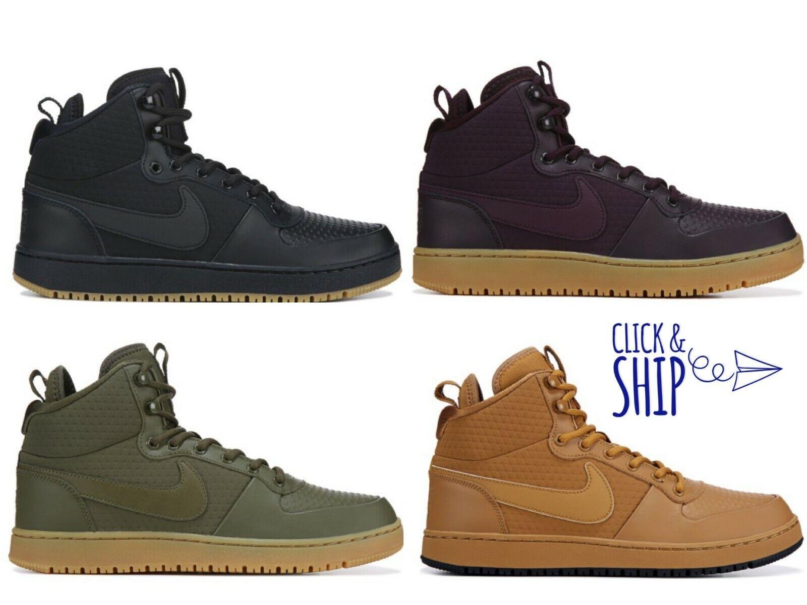 Mens Nike Ebernon Winter Mid Top High Sneakers Basketball shoes Retro Gum NEW
