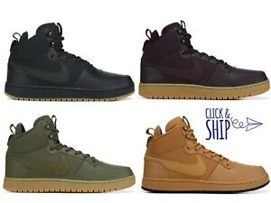 official shop 2018 sneakers no sale tax Details about Mens Nike Ebernon Winter Mid Top High Sneakers Basketball  Shoes Retro Gum NEW