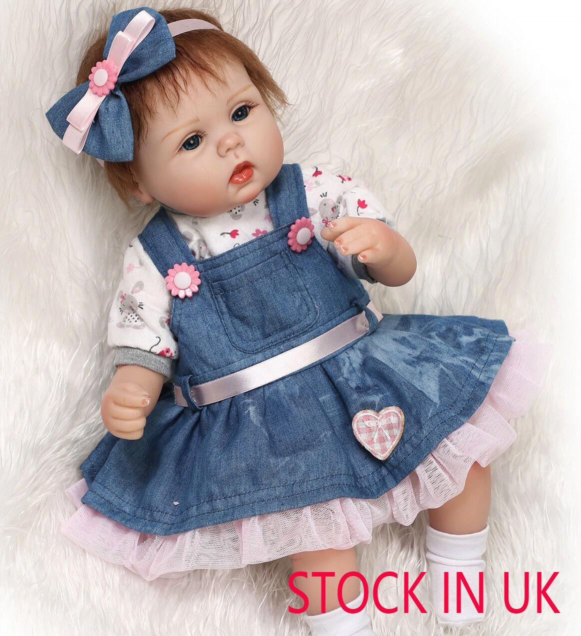 16  Fatto A Mano Realistico Bambino Ragazza Bambola Silicone Vinile Reborn Dolls