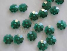 20 Emerald Swarovski Margarita Spacers 3700 6mm