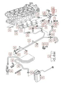 [SCHEMATICS_4US]  VW Golf R32 Passat Jetta AUDI A3 S3 A4 TT 2.0T FSI Engine Fuel Injectors  Kit 4 | eBay | Vw 2 0t Engine Diagram |  | eBay