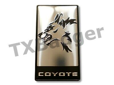 Mustang Coyote Grille Trunk Badge Emblem F-150 Silver TXBadger