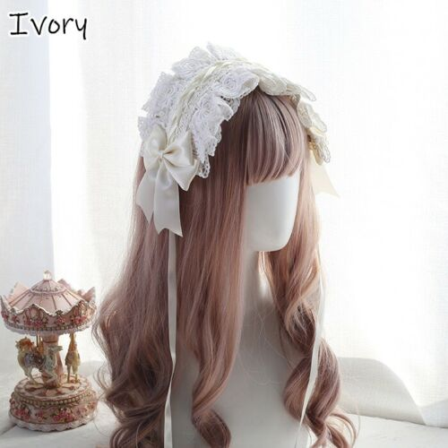 Details about  /Ladies Lace Floral Headband Headwear Hairband Gothic Hair Maid Cosplay Party