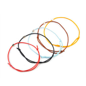 Handmade-Lucky-Heart-Bead-Charm-Bracelet-Rope-String-Bangle-Jewelry-Adjustable