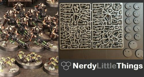 10 Necron Warriors Indomitus 3 Scarab Swarms Warhammer 40k Necrons