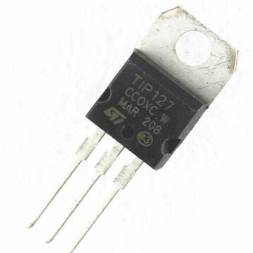 100 PCS TIP127 ST TRANS PNP DARL 100V 5A TO-220 NEW