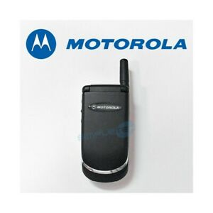 Telephone-Cellulaire-Motorola-V998-Noir-Gsm-Double-Bande-Remis-a-Neuf