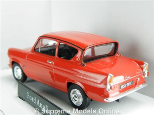 FORD Anglia modello auto 1:43 Taglie Rosso CR040 251XND T34Z Saloon anni 1960 Cararama