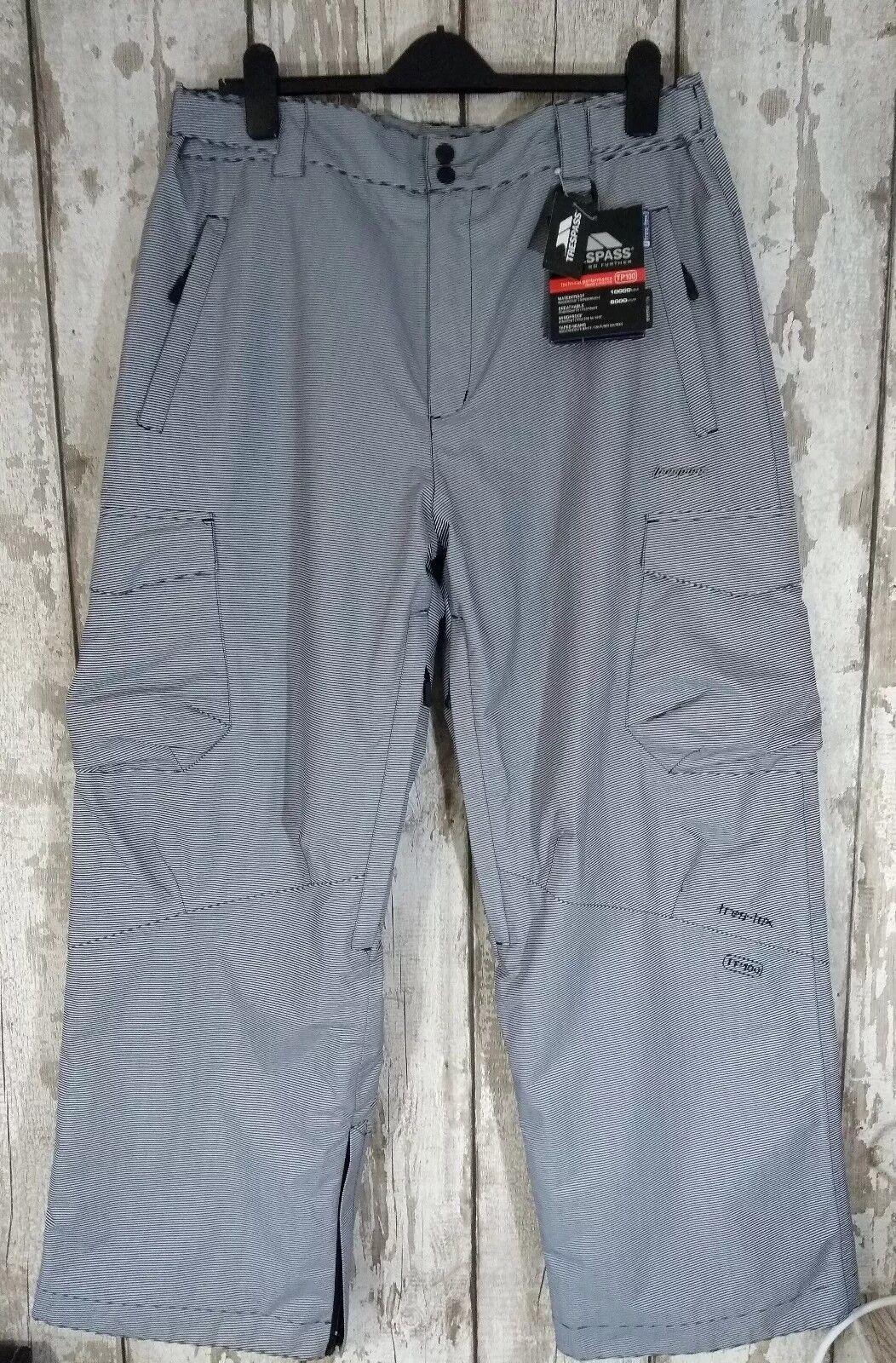 Trespass Rapper Size L W36 L34 Ski Trousers Waterproof Windproof Pants TP100