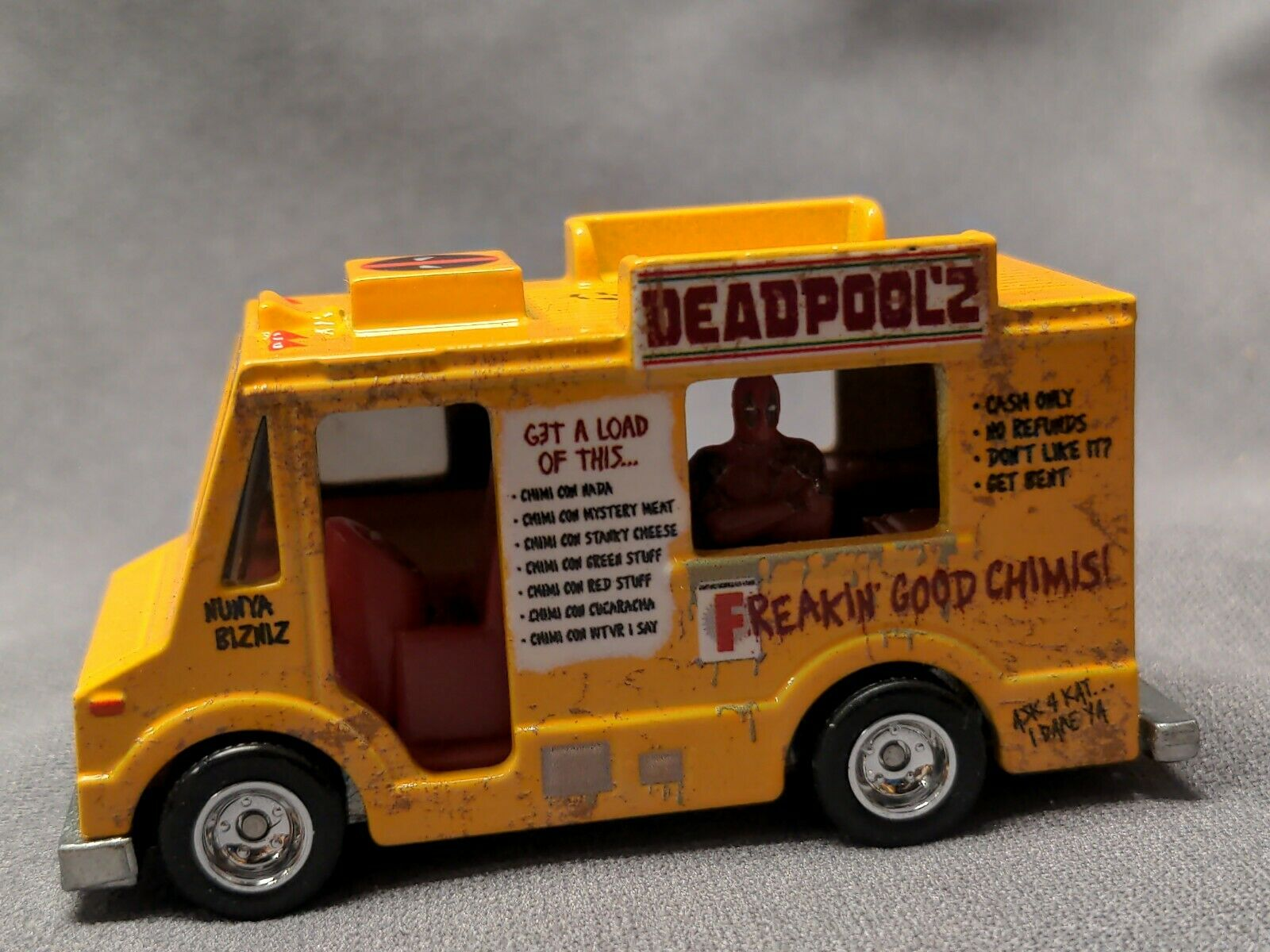 2020 Hot Wheels Retro Deadpool Chimichanga Truck 1 64 Diecast Car Grp96 Cars Trucks Vans Toys Hobbies
