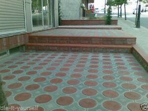 Pavimentazione Da Giardino In Plastica : Set of concrete paving interlocking garden path brick plastic